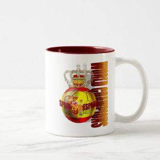 World Champions Spain 2010 futbol Two-Tone Coffee Mug