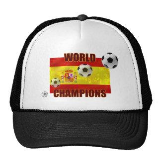 World Champions Spain flag soccer ball 2010 Cap