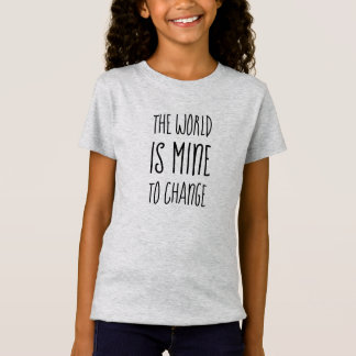 World Change Hero Empower Encourage Typography T-Shirt