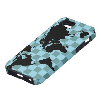 world checked graphic map iPhone 5 cases