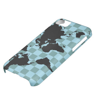 world checked graphic map iPhone 5C case