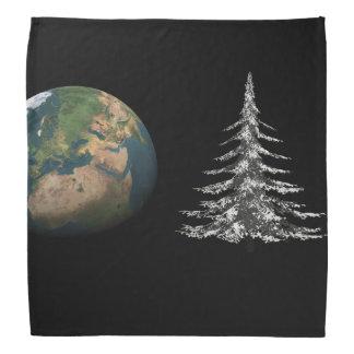 world christmas and fir tree bandana