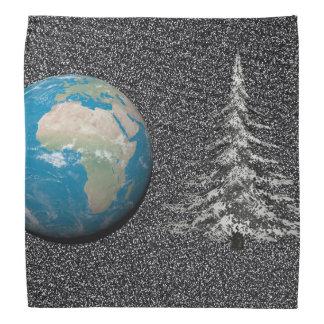 world christmas and snow bandana