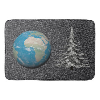 world christmas and snow bath mats