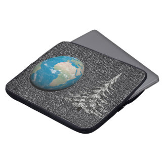 world christmas and snow laptop sleeve