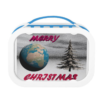 world christmas and snow lunch box