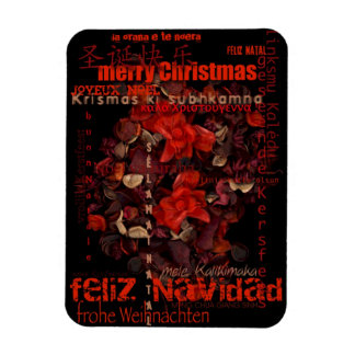 World Christmas Feliz Navidad Noel - Photo Magnet