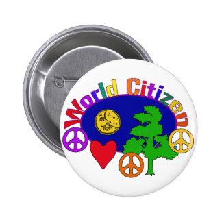 World Citizen 6 Cm Round Badge