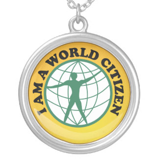 World Citizen Badge by World Service Authority Silver Plated Necklace