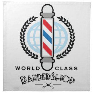 World Class Barber Shop Cloth Napkins
