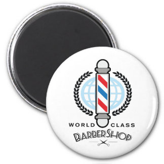 World Class Barber Shop Magnet