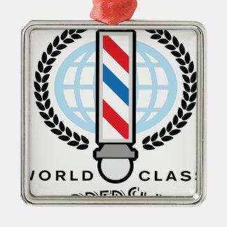 World Class Barber Shop Metal Ornament