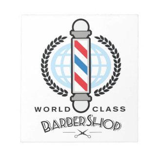 World Class Barber Shop Notepad