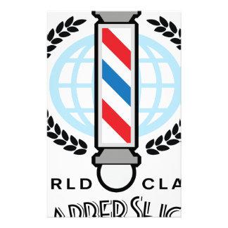 World Class Barber Shop Stationery