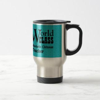 World Class MANDARIN CHINESE TEACHER Aqua V3V Stainless Steel Travel Mug