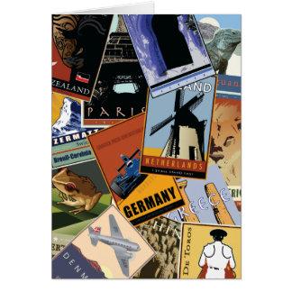 World Collage Card