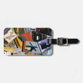 World Collage Luggage Tag