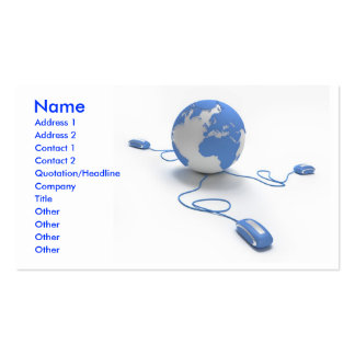 World Connection Business Card Template