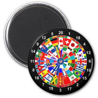world country flag darts board game travel bulls-e magnet
