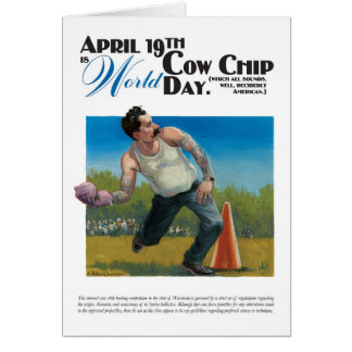 World Cow Chip Day Card