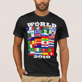 World Cup 2010 Flag Group A-H Black T-Shirt