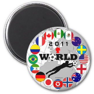World Cup 2011 Goal Flags Magnet Map 1