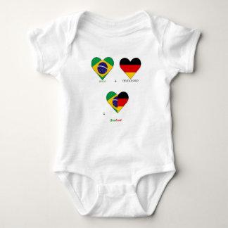 World Cup, Brazil, Deutschland Baby Bodysuit