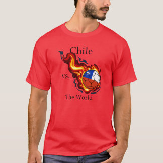 World Cup - Chile vs. The World Flaming Football T-Shirt