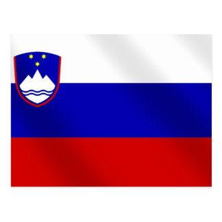 World Cup Soccer Brazil 2014 Slovenia flag ball Postcard