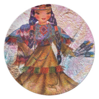 WORLD DOLL NATIVE AMERICAN PLATE