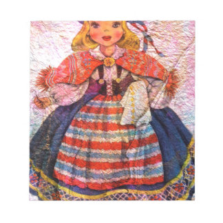 WORLD DOLL SWEEDISH NOTEPAD