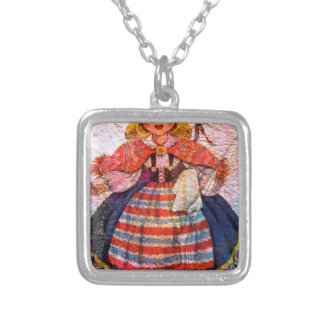 WORLD DOLL SWEEDISH SILVER PLATED NECKLACE
