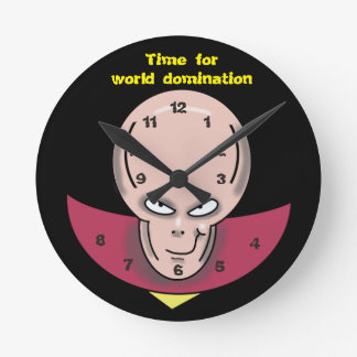 WORLD DOMINATION by Jetpackcorps Round Clock