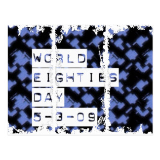 world eighties day postcard