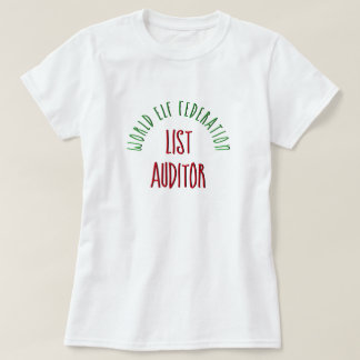 World Elf Federation List Auditor T-Shirt