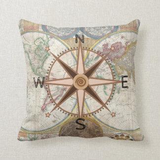 World Explorer Compass Rose Cushion