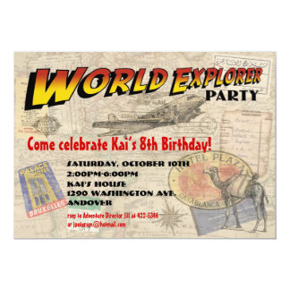 World Explorer Party Invitation