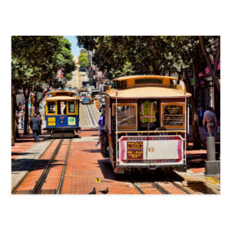World Famous Cable Cars Postcard