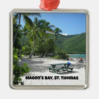 World famous Magen's Bay, St. Thomas Metal Ornament