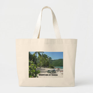 World famous Magen's Bay, St. Thomas Canvas Bags
