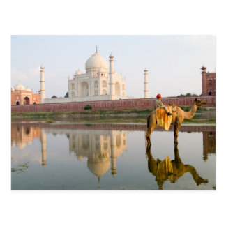 World famous Taj Mahal temple burial site at Postcard
