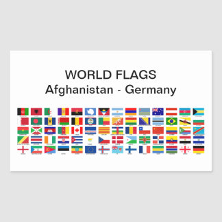 World Flags: Afghanistan - Germany Rectangular Sticker