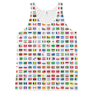 world flags All-Over print singlet