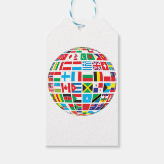 World Flags Globe Gift Tags