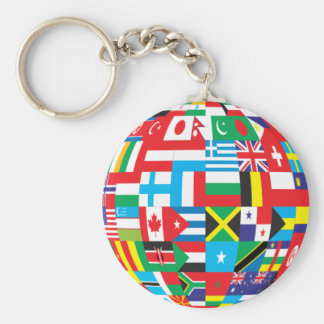 World Flags, Globe Key Ring