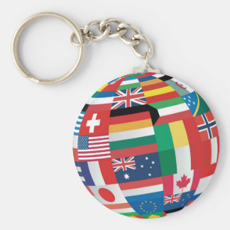 World Flags Key Ring