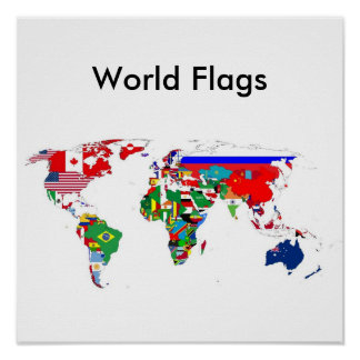 World Flags Poster