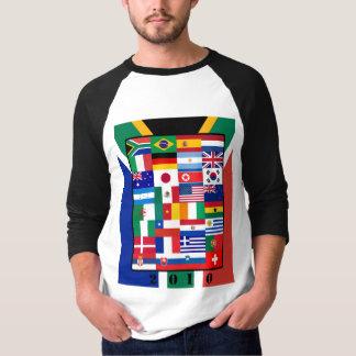 World Flags Soccer 2010 Raglan Sleeve T-Shirt