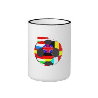 World Flags Soccer Ball Coffee Mug