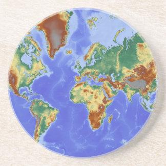 World Geographic International Map Sandstone Coaster